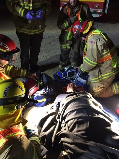 EMS Training on vehicle collision and extrication